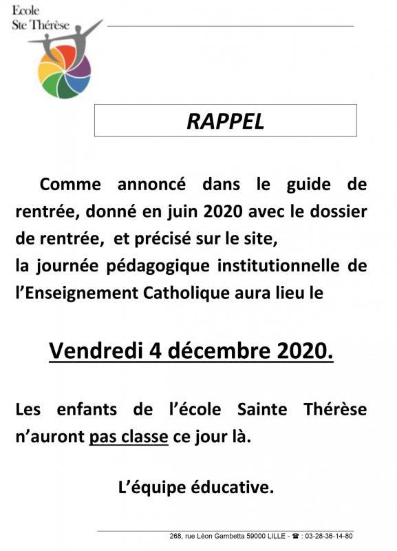 2020 2021 journee pedagogique