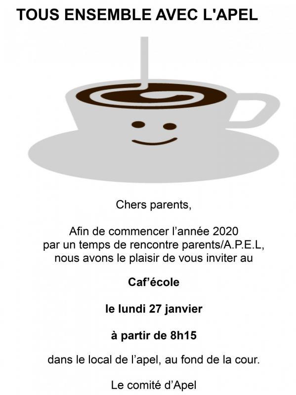 Cafe ecole 2 2019 2020