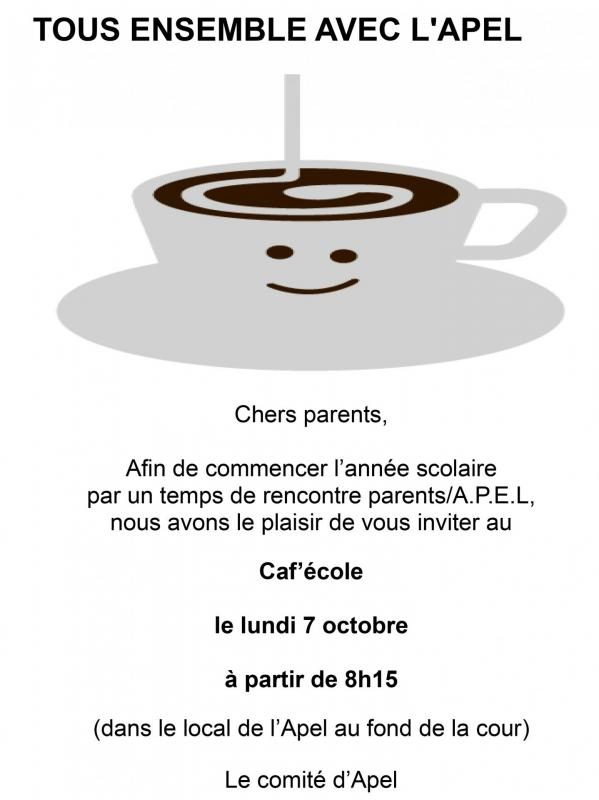 Cafe ecole 2019 2020 1